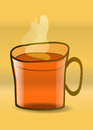 Glass cup of tea vector Royalty Free Stock Photo
