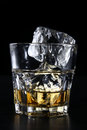 Glass Cup With Whisky Royalty Free Stock Photo