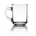 Glass cup on white Stock Photo