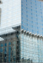 Glass curtain wall on the building Stock Photo