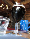 Glass of dark beer Royalty Free Stock Photo