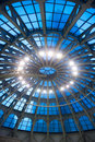 Glass dome ceiling Royalty Free Stock Photos