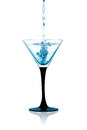 Glass of Dry Martini, Gin Cocktail Isolated Stock Image
