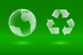 Glass eco icons recycle end earth eps illustration Stock Photos