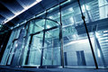 Glass Entrance to Modern Building Royalty Free Stock Photo