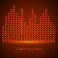 Glass equalizer on dark background vector illustration Stock Photo