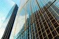 Glass facade of modern skyscraper building Royalty Free Stock Photo