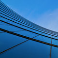 Glass facade of an office tower Royalty Free Stock Images