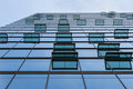 Glass facade with windows of modern building a office Stock Photo