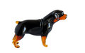 Glass figurine of the dog Royalty Free Stock Photo