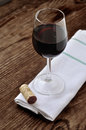 Glass of fine italian red wine Royalty Free Stock Photo