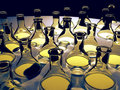 Glass flasks Stock Images