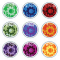 Glass floral buttons Royalty Free Stock Photo