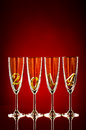 Glass four goblet for champagne with numeral beautiful celebrations new year concept photo Royalty Free Stock Photos