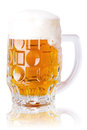 Glass of fresh beer Royalty Free Stock Photo