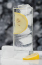 Glass of fresh cool transparent water Royalty Free Stock Photo