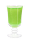 Glass with fresh green-apple juice Royalty Free Stock Photo