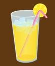 Glass of fresh lemon ice Royalty Free Stock Image