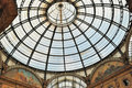 Glass gallery - Galleria Vittorio Emanuele Royalty Free Stock Photography