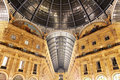 Glass gallery - Galleria Vittorio Emanuele - Milan Royalty Free Stock Photo