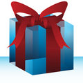 Glass Gift Bow Box Royalty Free Stock Photo