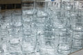 Glass glasses set of transparent for drink Royalty Free Stock Images