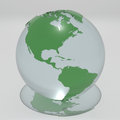 Glass globe a d rendered Royalty Free Stock Photos