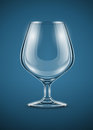 Glass goblet brandy drinks vector illustration eps transparent objects used shadows lights drawing Royalty Free Stock Photography