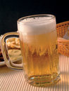 A glass with golden lager beer Royalty Free Stock Photography