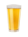Glass of Golden Light Beer Royalty Free Stock Photo