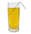 Glass of green apple juice isolated Royalty Free Stock Photo