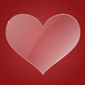 Glass heart background vector illustration Stock Photography