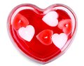 Glass heart with candles for Valentine's Day Royalty Free Stock Photo