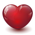 Glass heart large Stock Photography