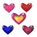 glass hearts Royalty Free Stock Photo