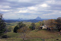 Glass House Mountains Royalty Free Stock Photo