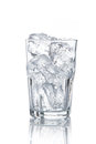 Glass with ice cubes Royalty Free Stock Photo