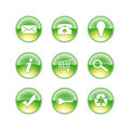 Glass icons lime Royalty Free Stock Images