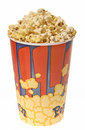 Glass isolated popcorn Стоковое Фото