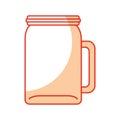 Glass jar for drinks