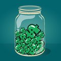 Glass jar with money vector eps illustration Stock Image