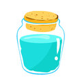 Glass jar and water isolated illustration on white background Stock Images