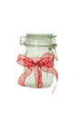 Glass Jar on white background Stock Image