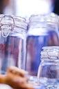 Glass jars Stock Photography