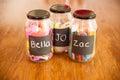 Glass jars Royalty Free Stock Photo