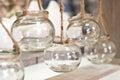 Glass jars home decoration Royalty Free Stock Photo