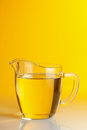 Glass jug vegetable oil Royalty Free Stock Images