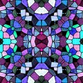 Glass kaleidoscope mosaic seamless pattern background in blue, pink, purple and green colors Royalty Free Stock Photo