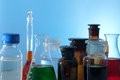 Glass laboratory apparatus Stock Image