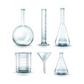 Glass laboratory flasks Royalty Free Stock Photo